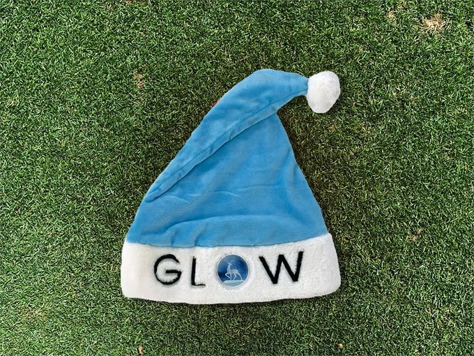 Nashville Sounds Glow Santa Hat