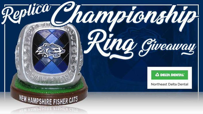 New Hampshire Fisher Cats Champ Ring