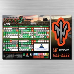 Norfolk Tides 2019 Magnet Schedules