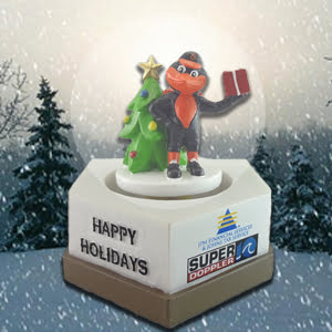 Norfolk Tides Christmas in July Snow Globe