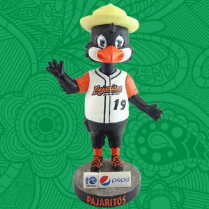 Norfolk Tides Pajaritos Bobblehead Doll