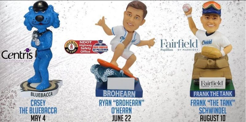 Omaha Storm Chasers 2019 Bobbleheads