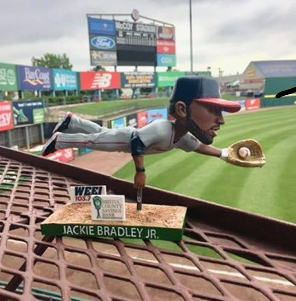 Pawtucket Red Sox Jackie Bradley Jr Gold Glove Bobblehead