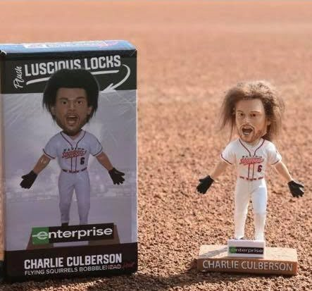 Richmond Flying Squirrels Charlie Culberson Bobblehair