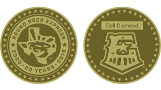 Round Rock Express 20th Anniversary Coin
