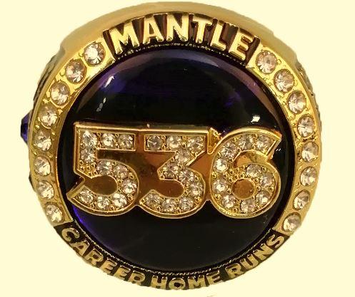 Tulsa Drillers Mickey Mantle 500 Home Run Club Ring