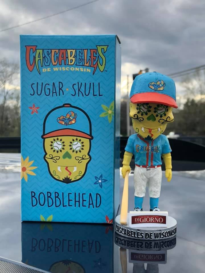 Wisconsin Timber Rattlers Sugar Skull Bobblehead
