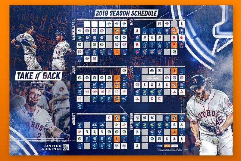Astros - 2019 Schedule Magnet