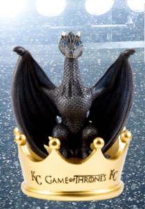 Royals themed Ice Dragon bobblehead