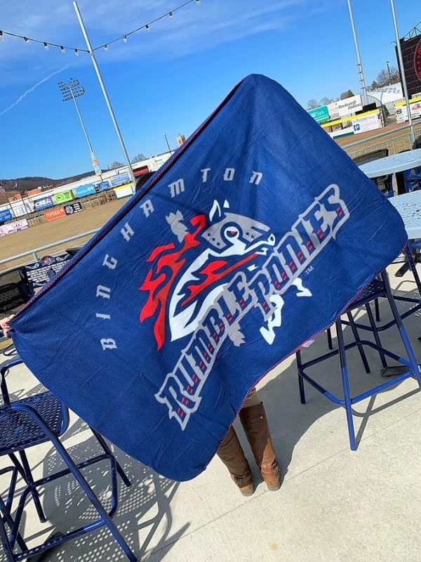Binghamton Rumble Ponies Fleece Blanket