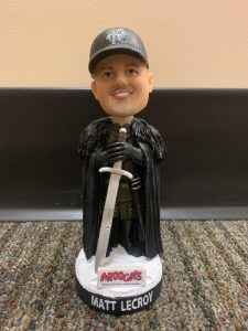 Harrisburg Senators Game of Thrones Matt LeCroy Bobblehead