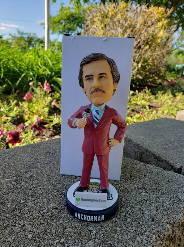 Kane County Cougars Anchorman Bobblehead