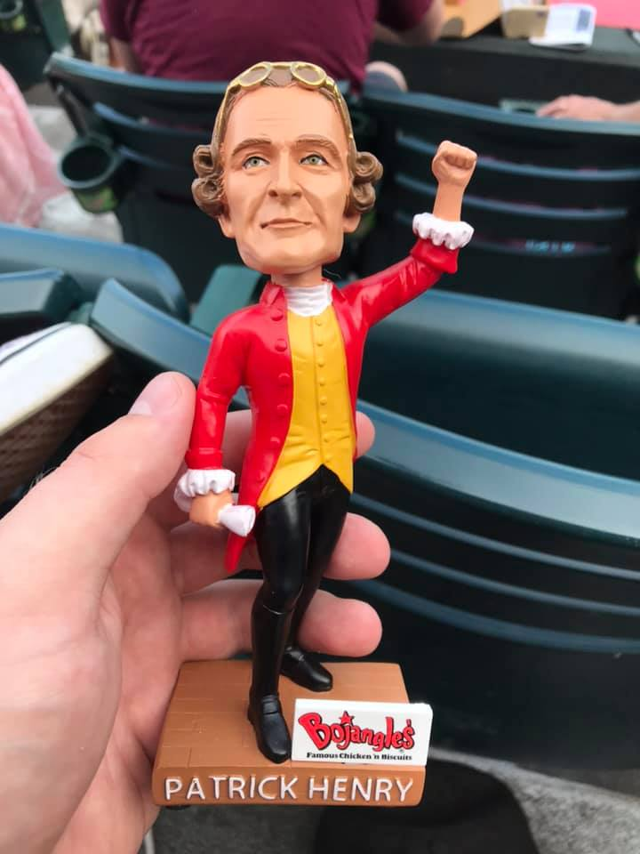 Richmond Flying Squirrels Patrick Henry Bobblehead