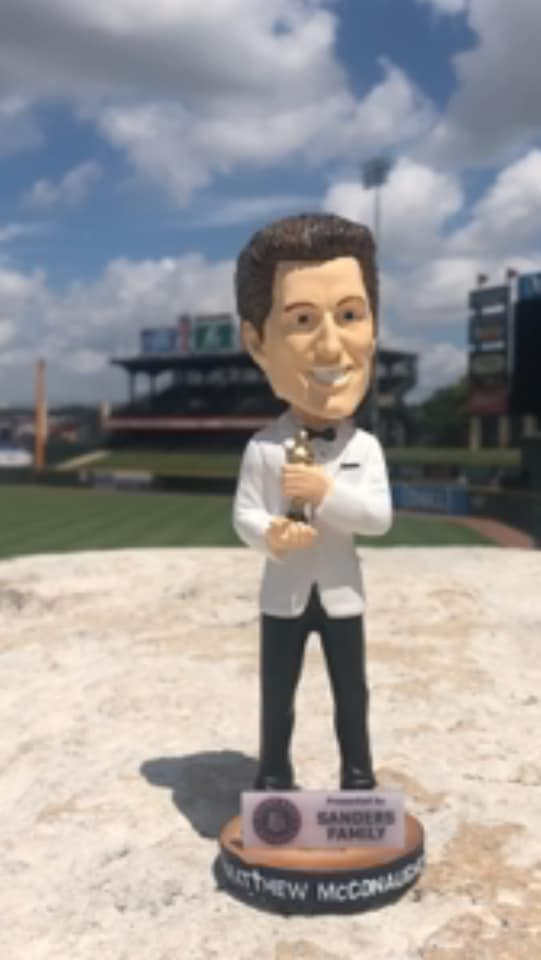 Round Rock Express Matthew McConaughey Texas Legends Bobblehead