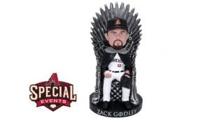 Zack Godley Game of Thrones Bobblehead