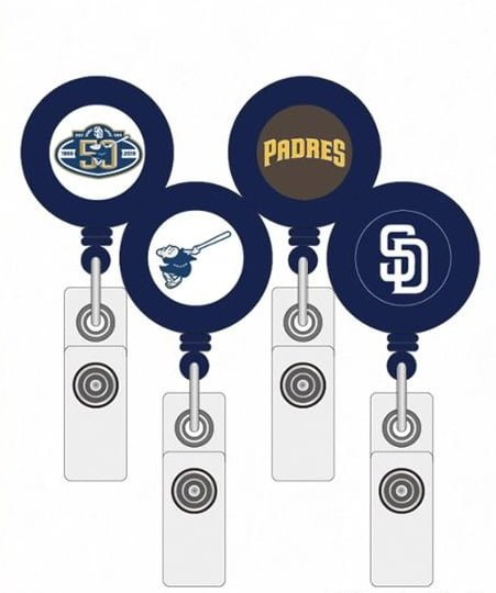 Padres Retractable badge holders