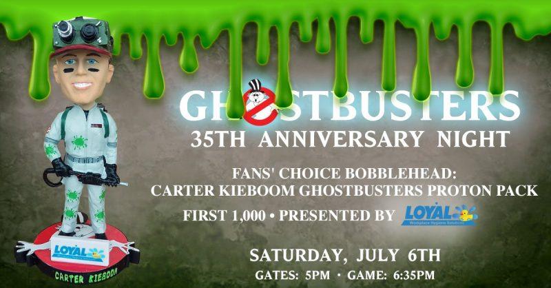 Carter Kieboom Ghostbusters Proton Pack Bobblehead