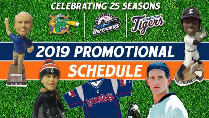 Connecticut Tigers 2019 Promotional Stadium Giveaways