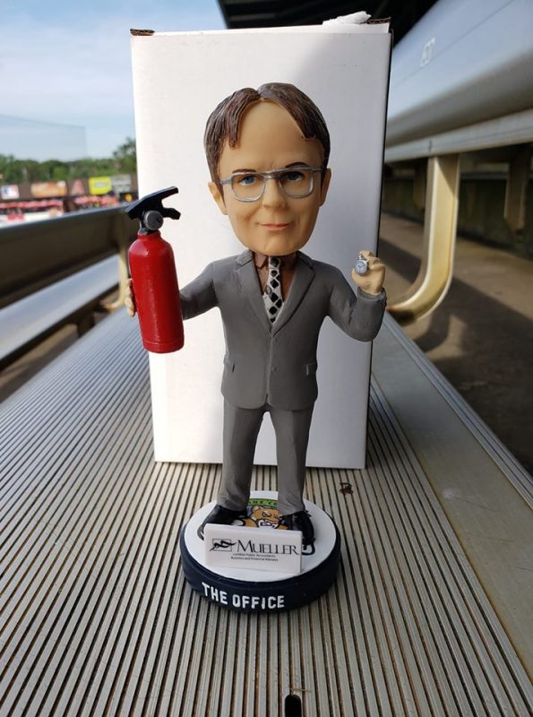 Kane County Cougars Dwight Shrute Bobblehead