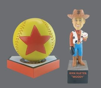 San Francisco Giants - Kirk Rueter Woody Bobblehead & Luxo Ball