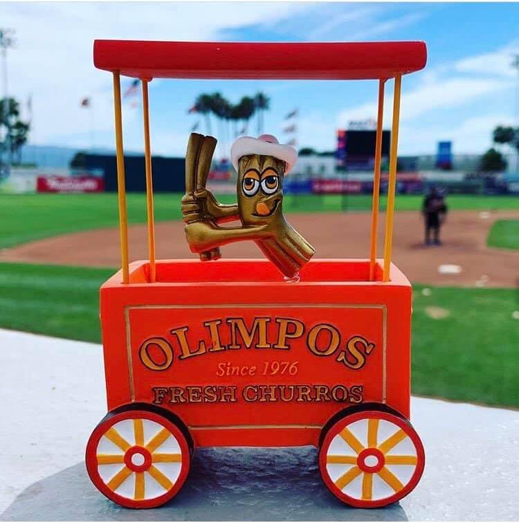 San Jose Giants Churro Time Cart Replica Bobble