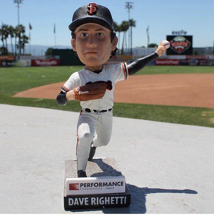 San Jose Giants Dave Righetti Bobblehead