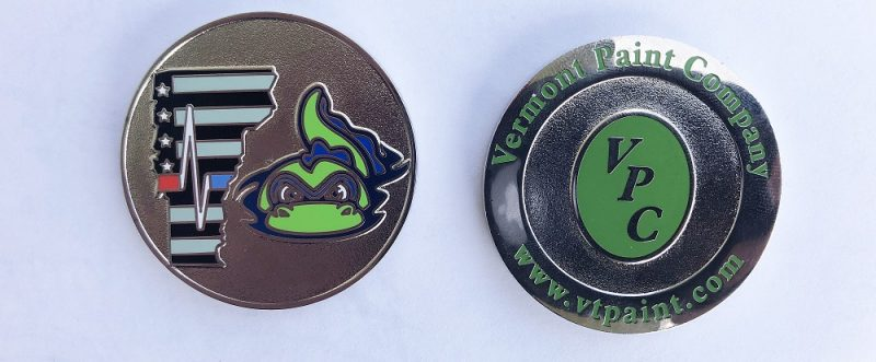 Vermont Lake Monsters Challenge Coin