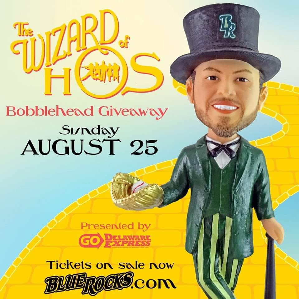 Wilmington Blue Rocks Wizard of Hos Bobblehead