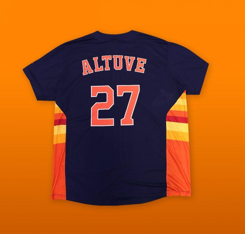 detailed look 211f2 99645 June 8, 2019 Houston Astros - Jose Altuve Replica Navy ...