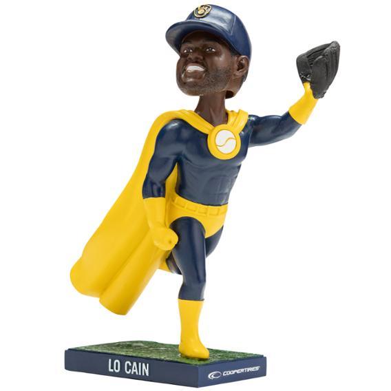 Lorenzo Cain Superhero bobblehead
