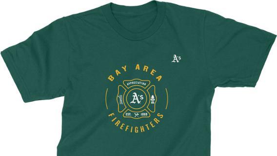 Oakland Athletics - Firefighter Appreciation Day Shirt