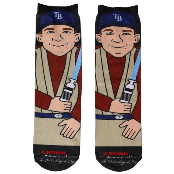 tampa-bay-rays-Jedi Joey Wendle Socks-6-30-2019