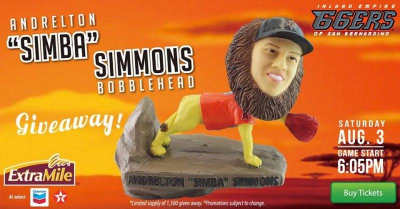 Inland Empire 66ers Simba Simmons Bobblehead