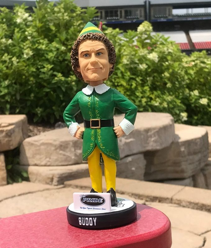 Kane County Cougars Elf Bobblehead