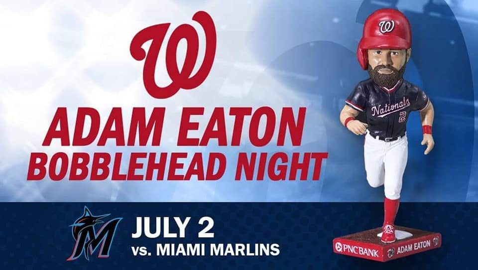 Washington Nationals – Adam Eaton Bobblehead
