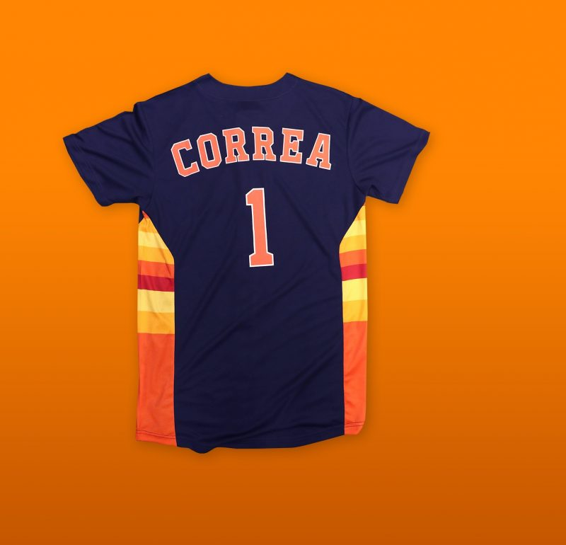 save off 40c6f d6bfd July 7, 2019 Houston Astros - Carlos Correa Navy Youth ...