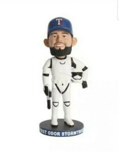 Texas Rangers First Odor Stormtrooper Bobblehead