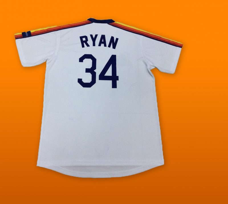 Nolan Ryan Replica Rainbow Shoulder Jersey