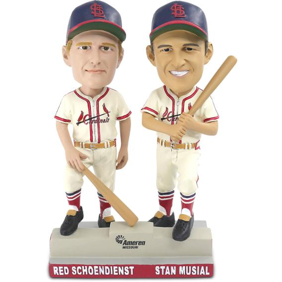 St Louis Cardinals – Stan Musial and Red Schoendienst Double Bobblehead