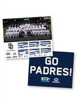 Padres - 2019 Team Photo & 2020 Schedule