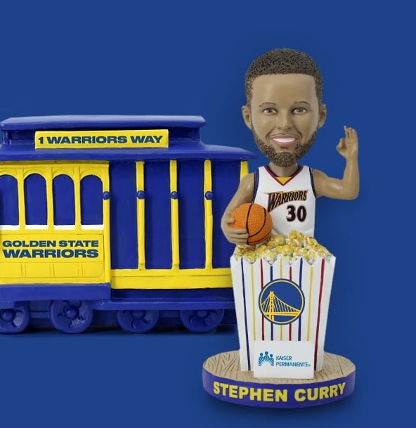 Golden State Warriors - Stephen Curry Popcorn Edition Bobblehead