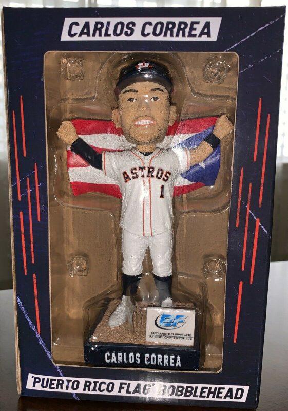 Houston Astros Carlos Correa Puerto Rico Heritage Bobblehead