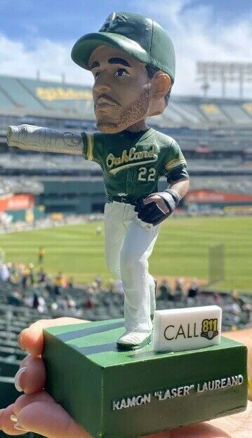 Oakland Athletics Laser Ramon Laureano Bobblehead