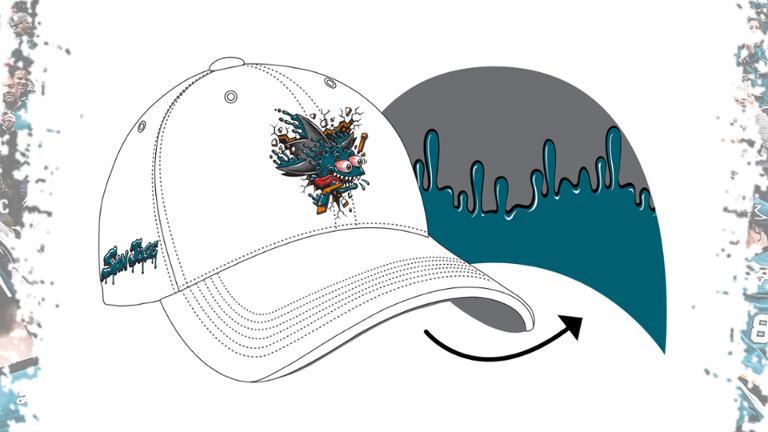 San Jose Sharks Freak hat