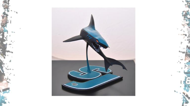 Stealth Leaping Shark Sculpture