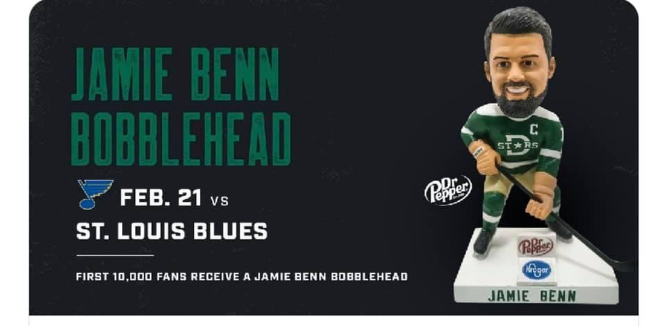 Dallas Stars Jamie Benn Bobblehead