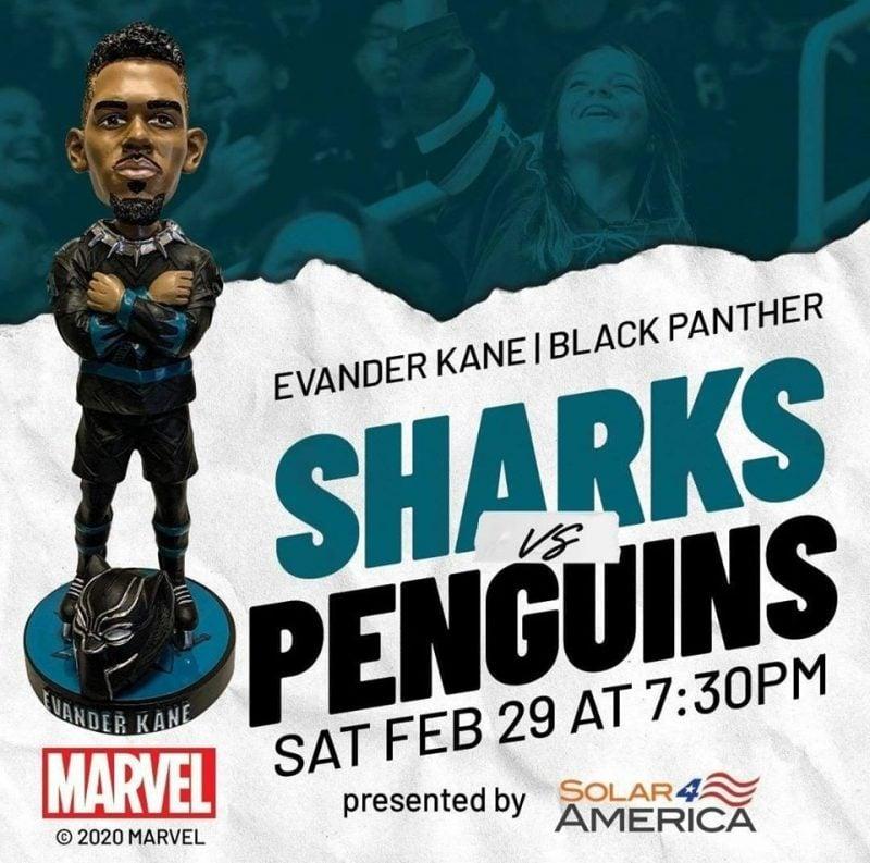 San Jose Sharks - Evander Kane Black Panther Bobblehead