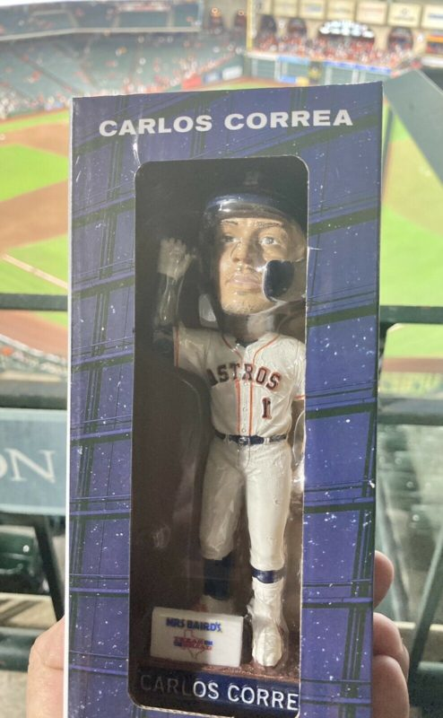 May 28, 2021 Houston Astros – Carlos Correa 'Can You Hear Me' Bobblehead