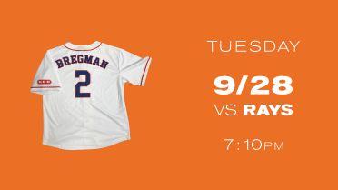 September 28, 2021 Houston Astros - Alex Bregman Replica White Jersey